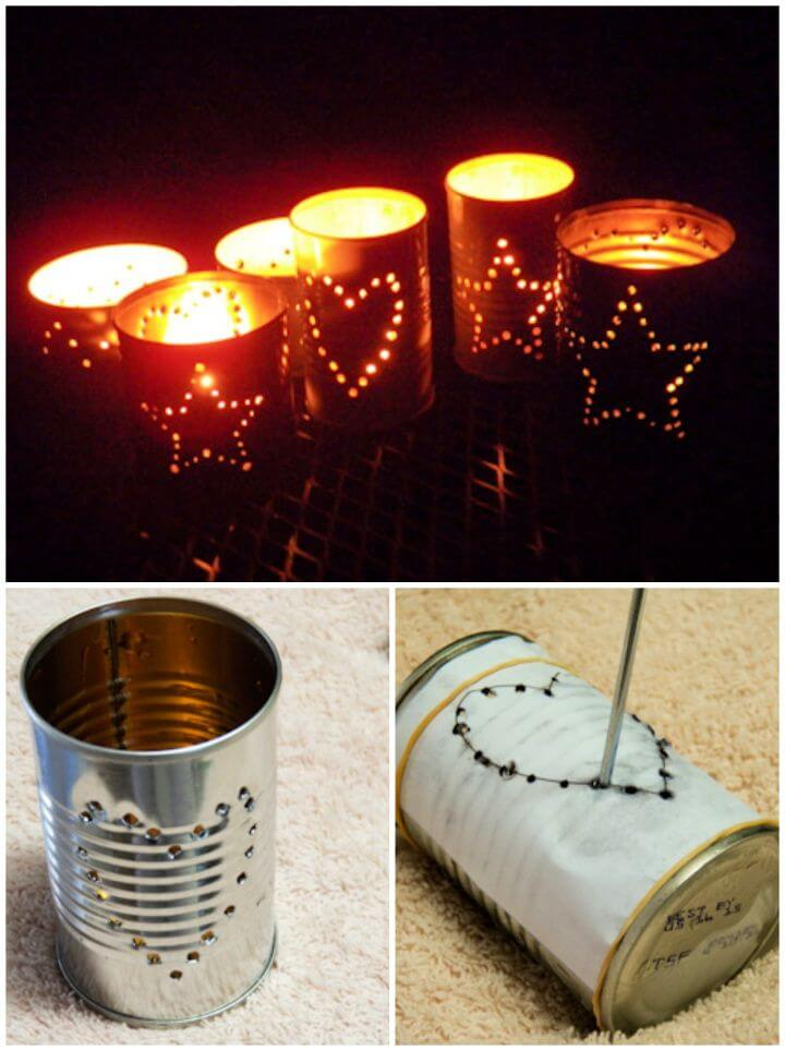 How To Recycled Tin Can Candle Holders