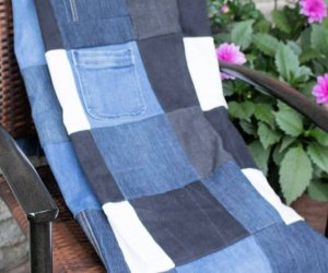 How To Repurposed Denim Checkered Picnic Blanket