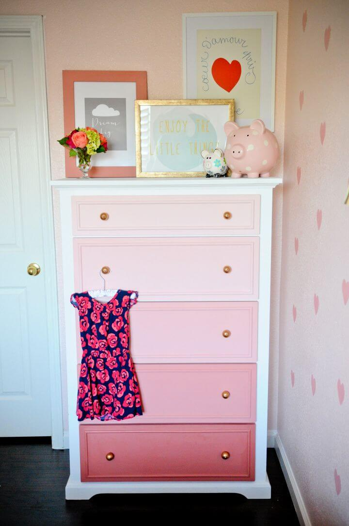 How To Transform Your Old Dresser Into An Ombre Masterpiece