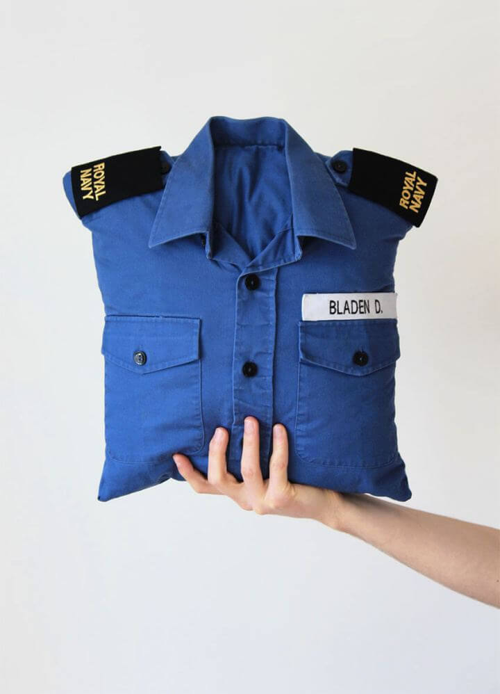 How To Turn A Shirt Into A Cushion Cover For Men