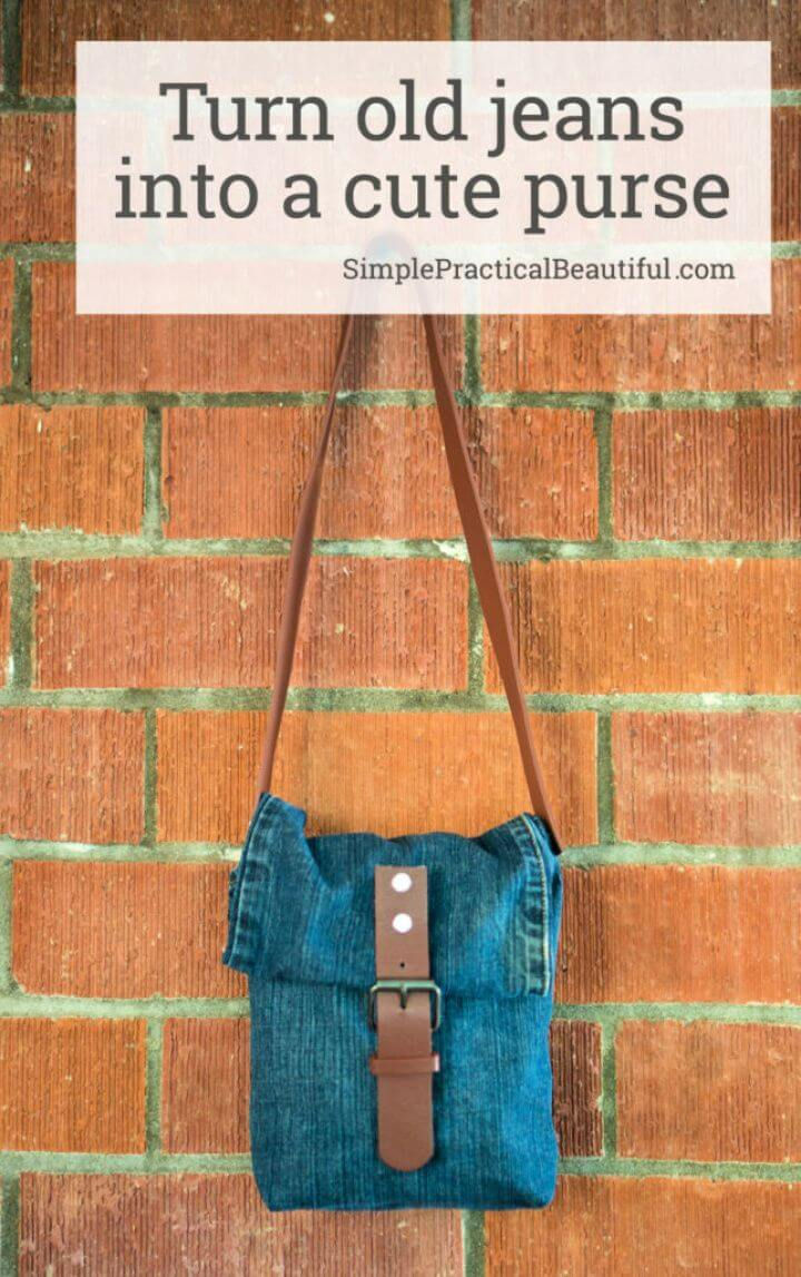 How To Turn Old Jeans Into A Cute Purse