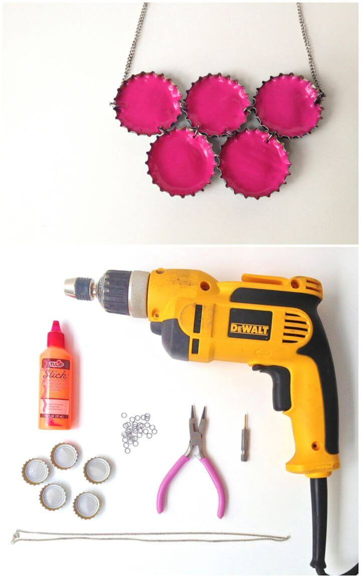 How To Upcycled Neon Necklace