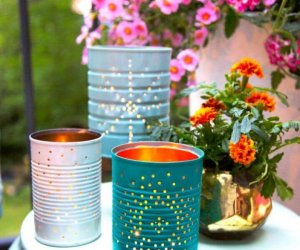 How To Upcycled Tin Can Lanterns