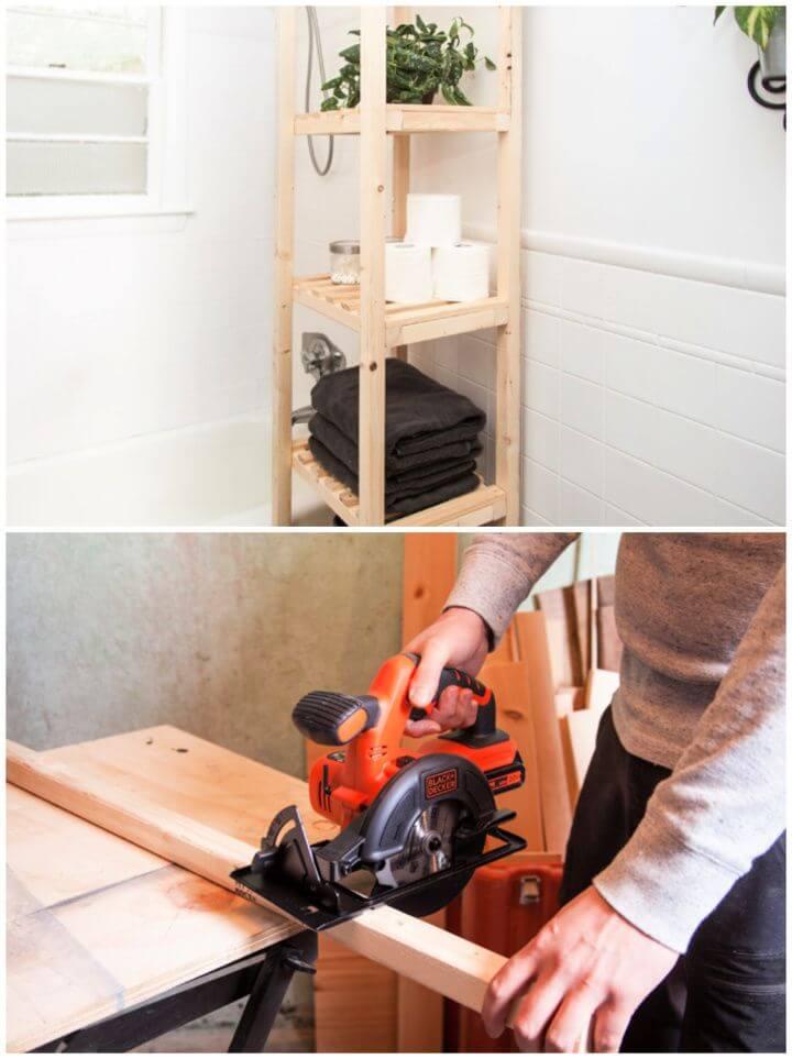How to Build a Bathroom Storage Shelf