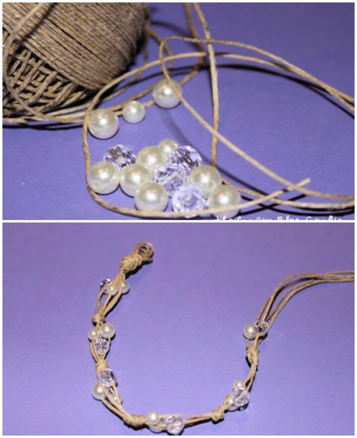 How to Build a Twine and Pearl Bracelet
