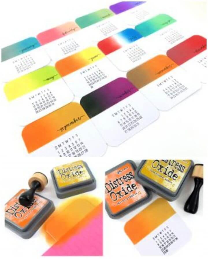 How to Make DIY Desk Calendars