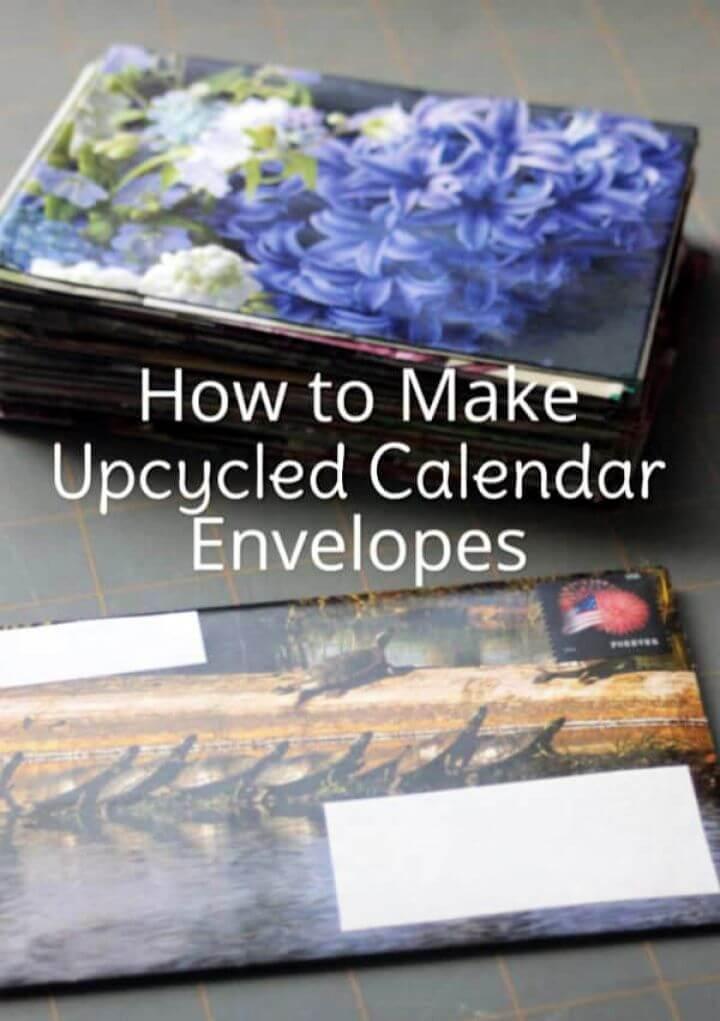 How to Make DIY Upcycled Calendar Envelopes