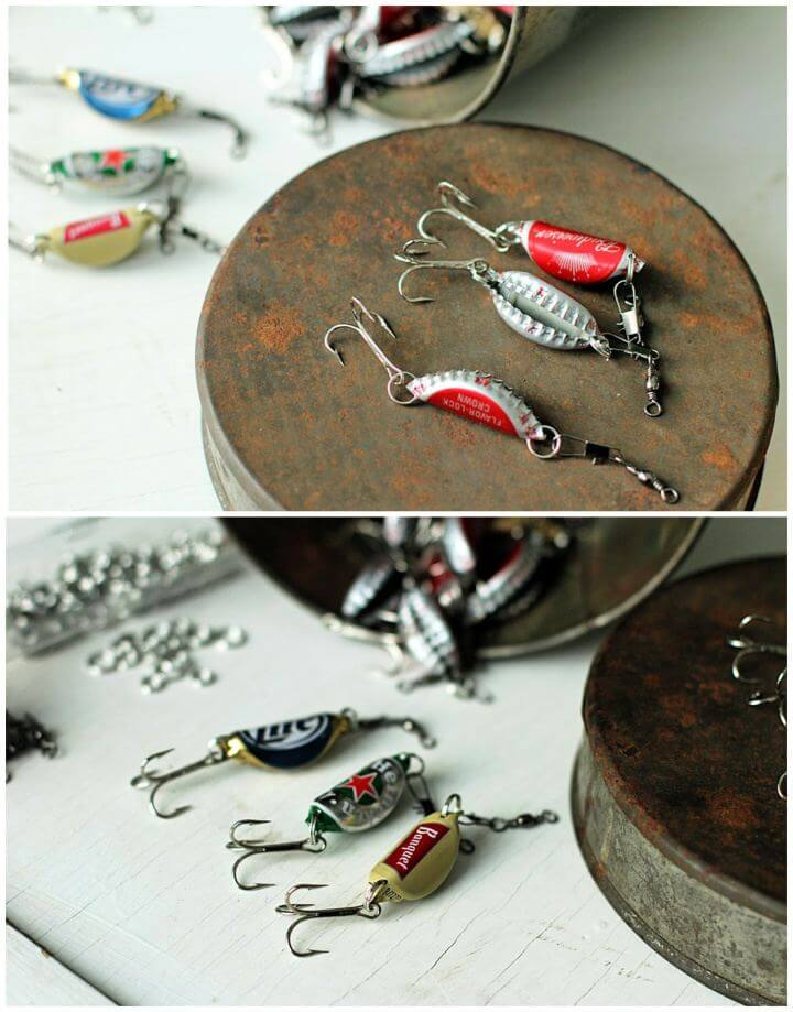 Make A DIY Bottle Cap Fishing Lures For Men