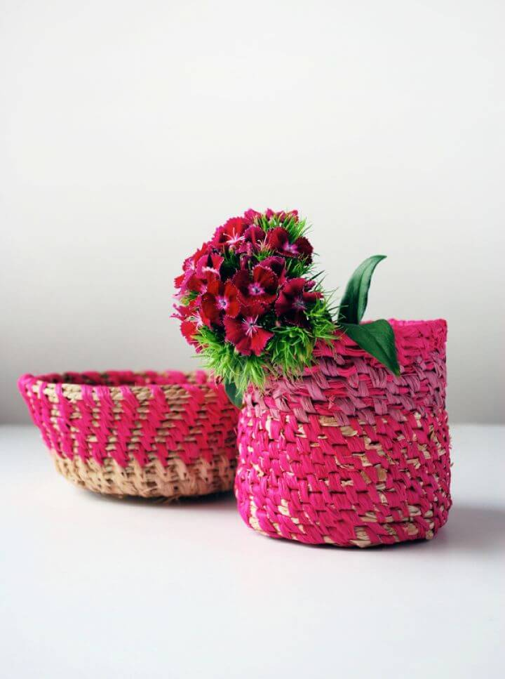 Make A DIY Coiled Raffia Basket