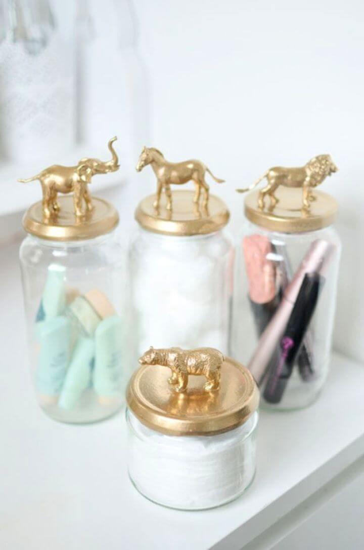 Make A DIY Gold Animal Jar