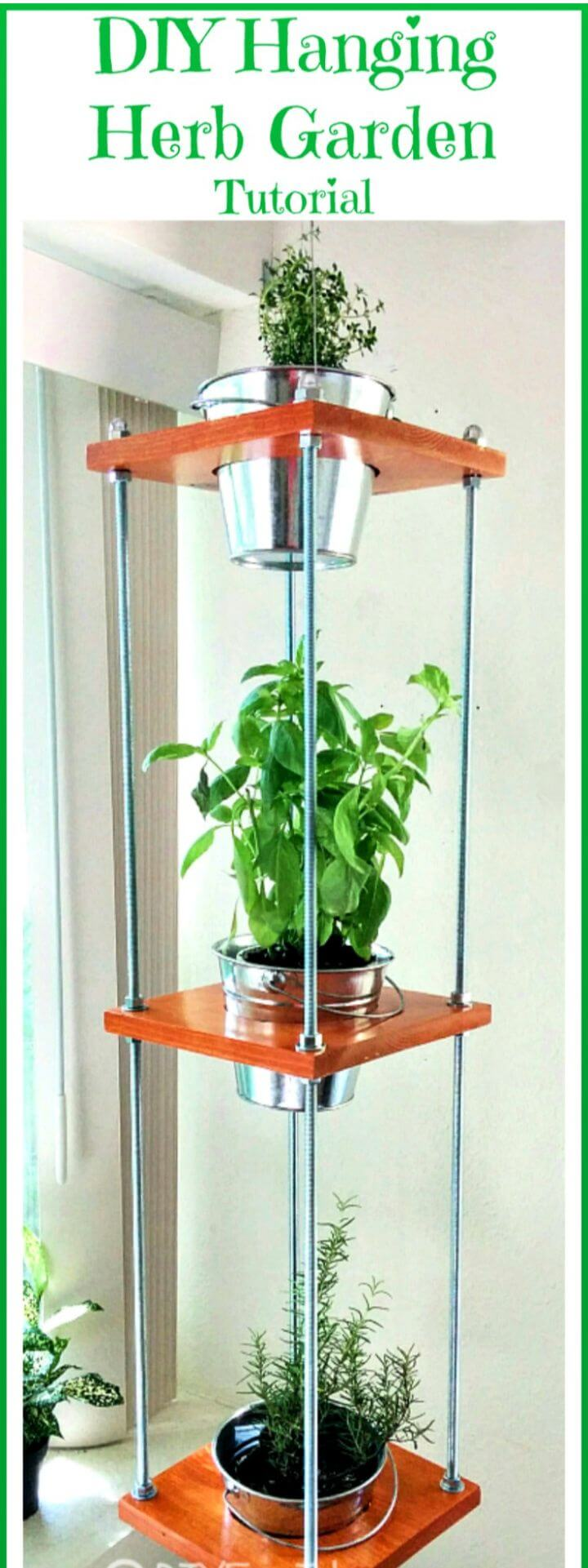 Make A DIY Hanging Herb Garden Industrial Style