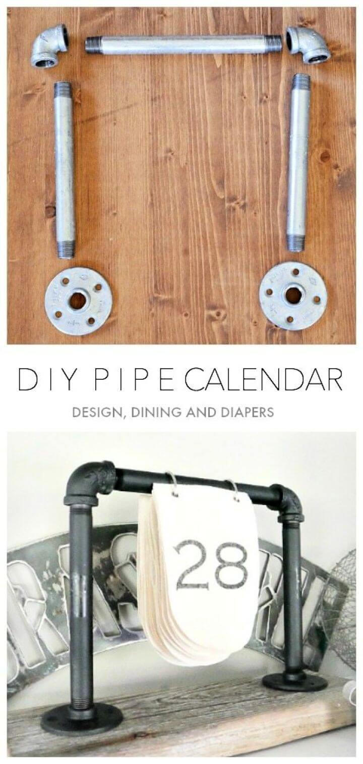Make A DIY Industrial Desk Calendar