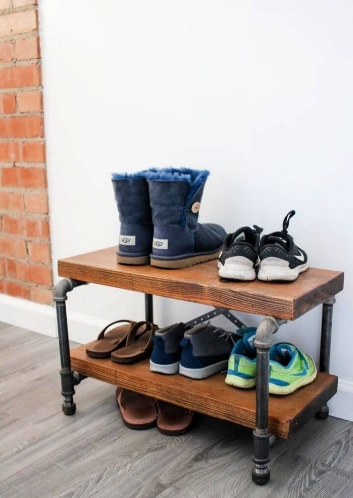 Make A DIY Industrial Shoe Rack