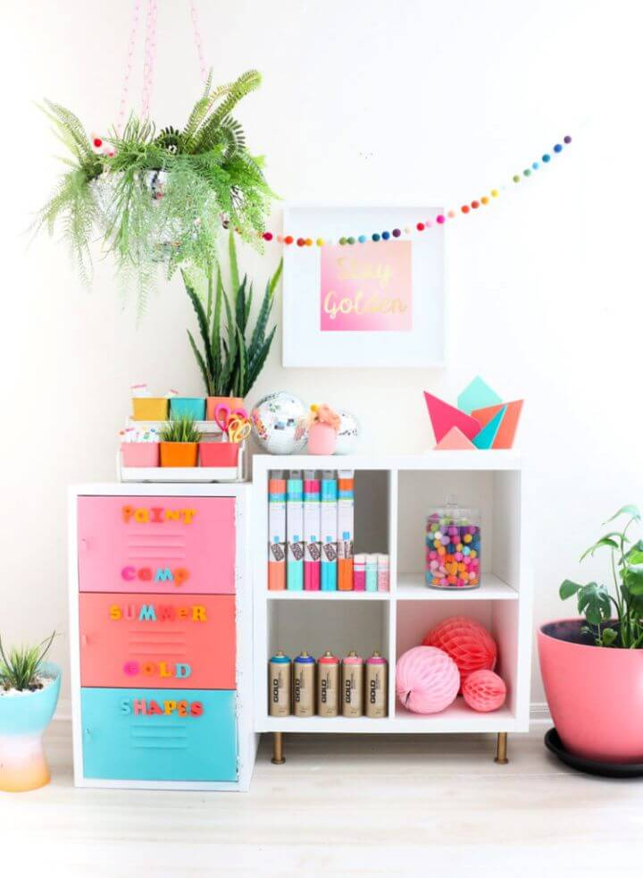 Make A DIY Painted Locker And Craft Room