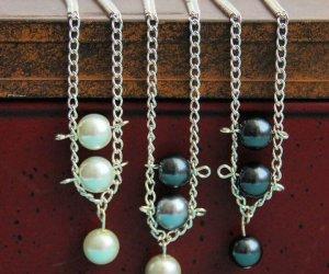Make A DIY Pearl Ladder Necklace