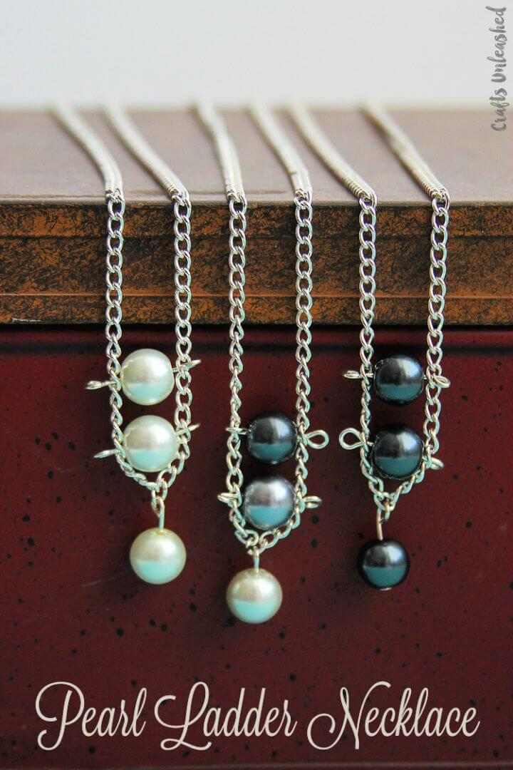 Make A DIY Pearl Ladder Necklace