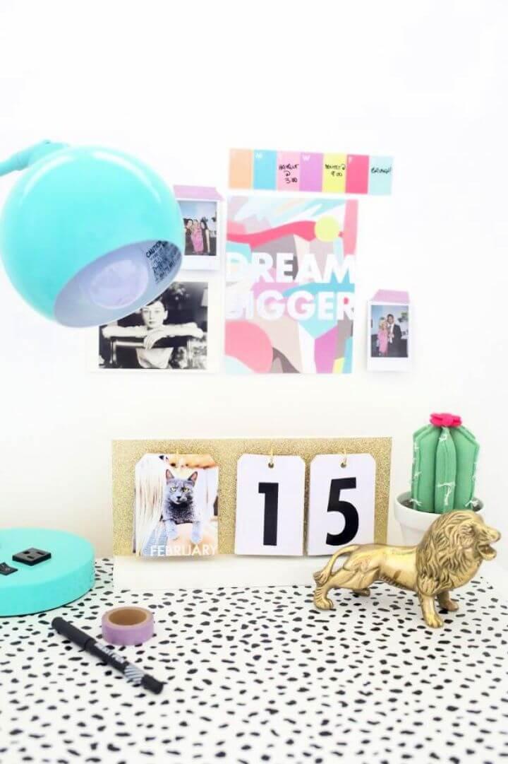 Make A DIY Perpetual Flip Calendar