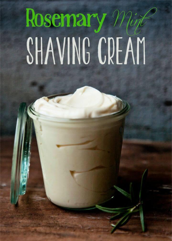 Make A DIY Rosemary Mint Shaving Cream