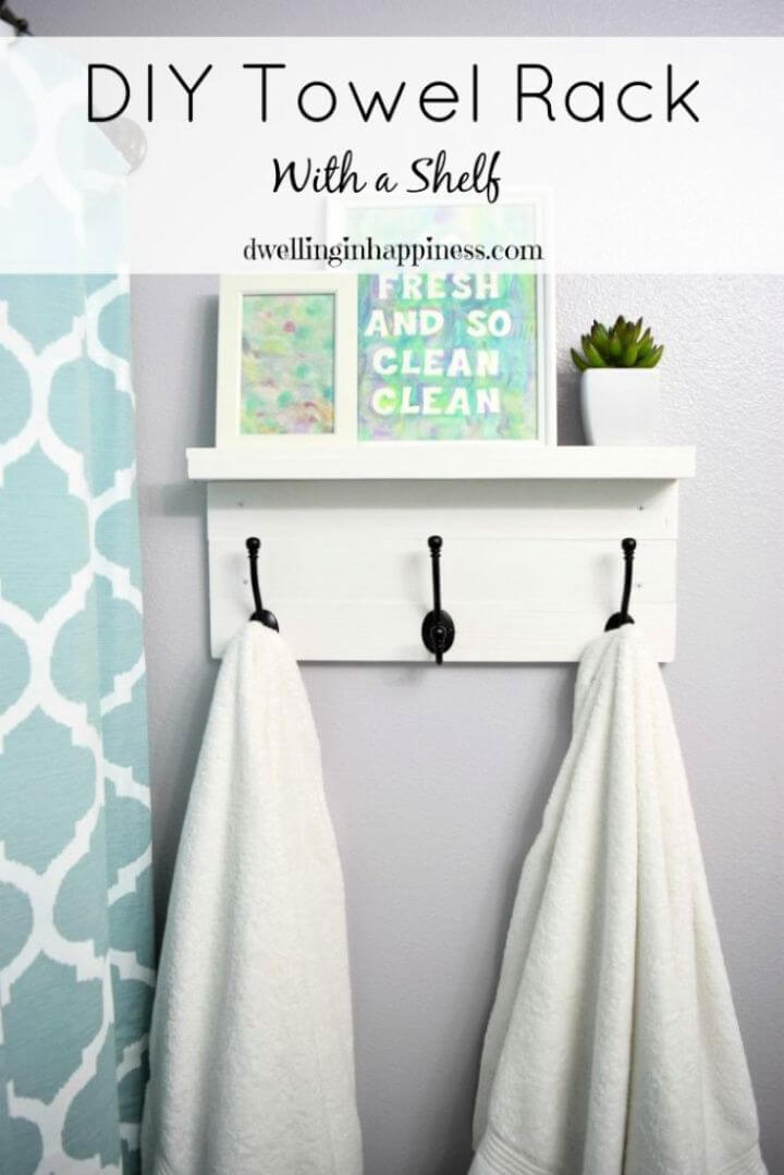 Make A DIY Towel Rack with a Shelf