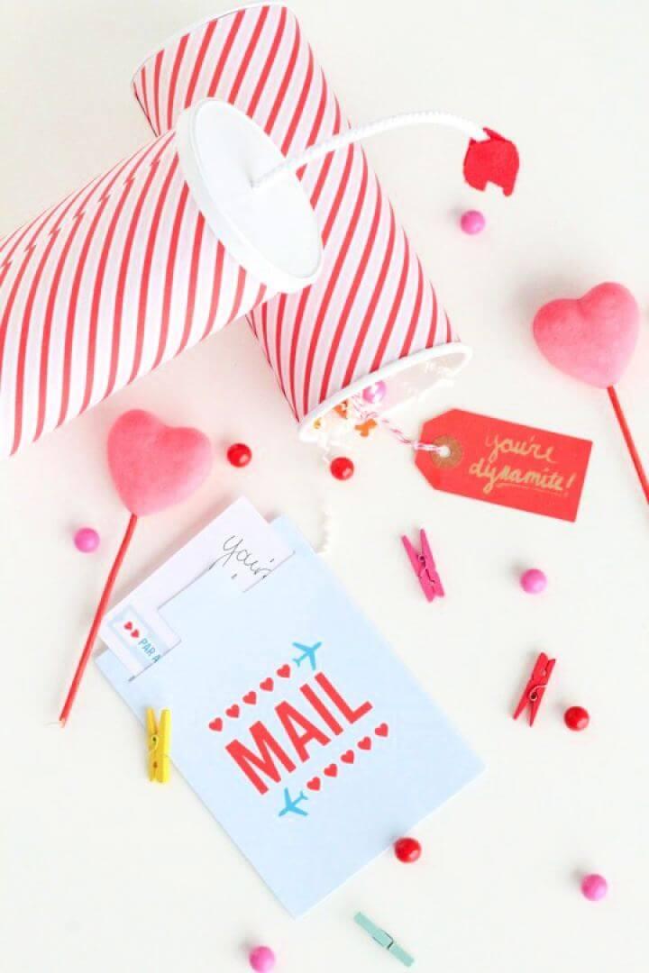 Make A DIY You're Dynamite Valentines