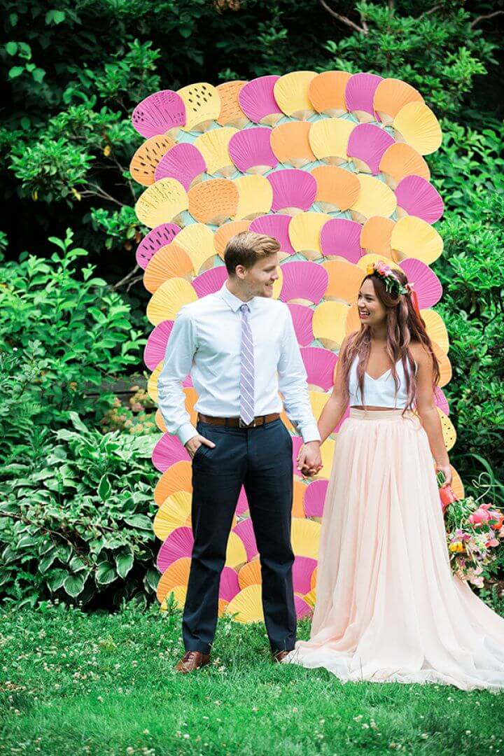 Make DIY Patterned Fan Backdrop