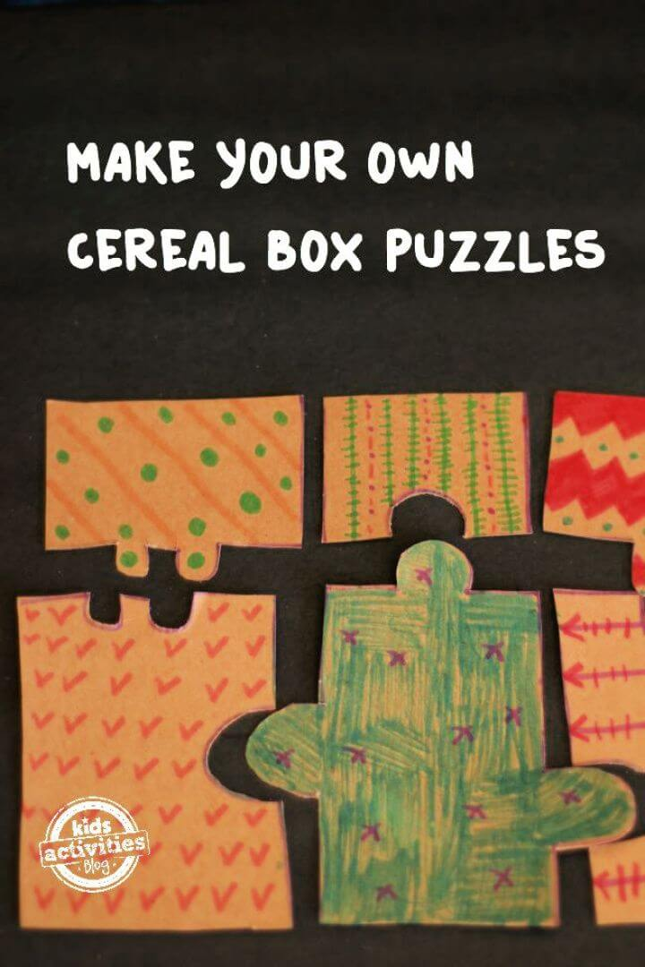Make Your Own A DIY Cereal Box Puzzles