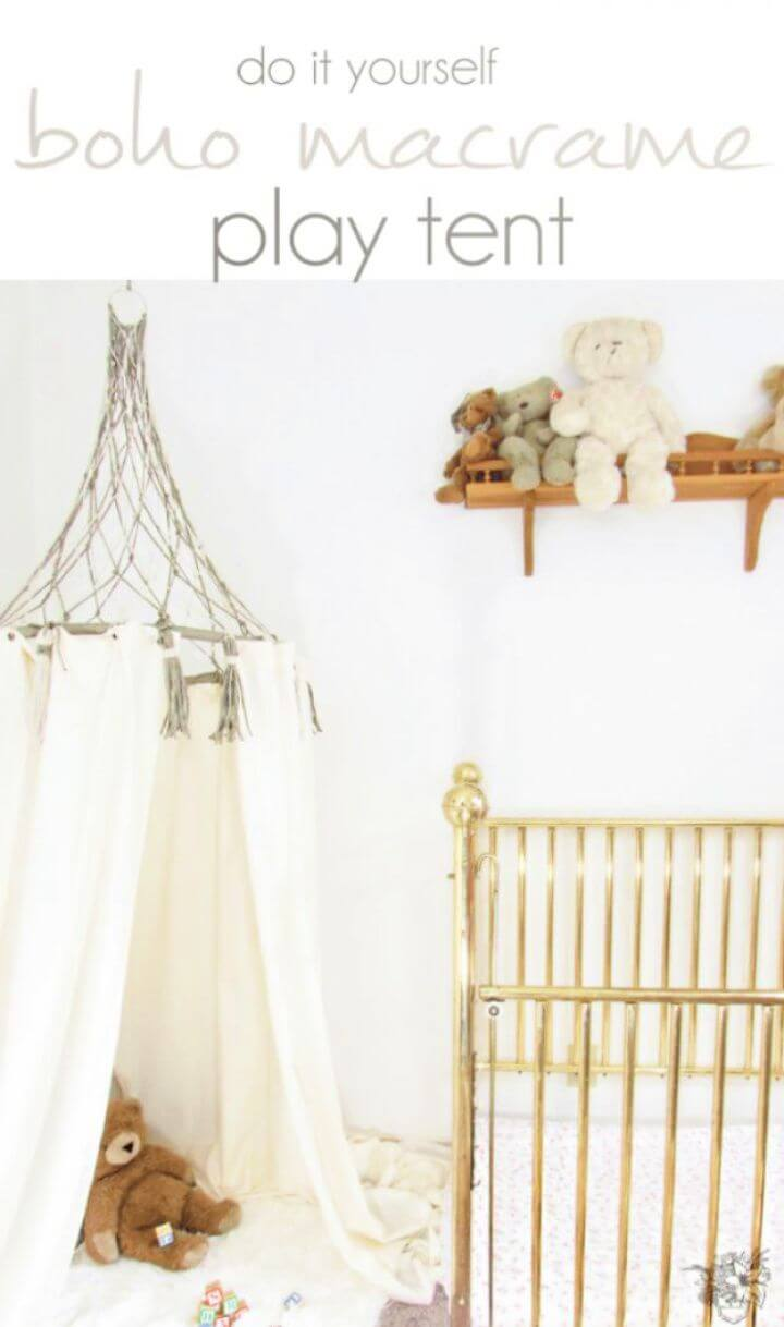 Make Your Own DIY Boho Macrame Play Tent