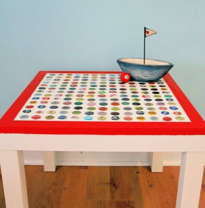 Make Your Own DIY Cheap and Chic Bottlecap Table