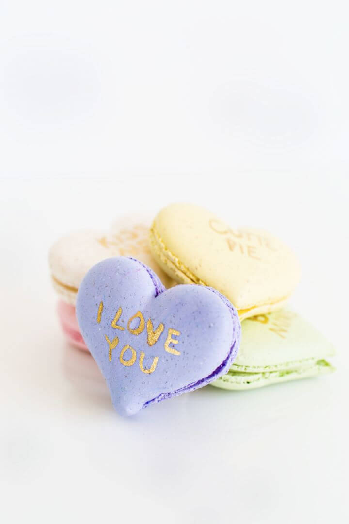 Make Your Own DIY Conversation Hearts Macarons