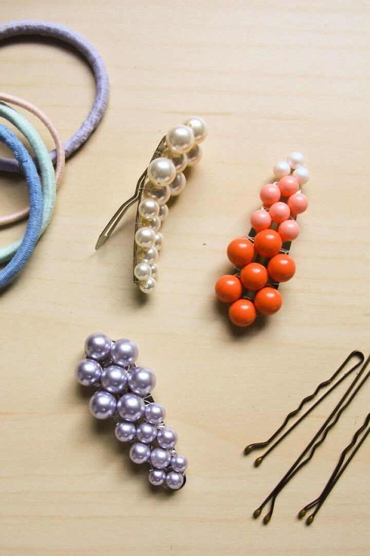 Make Your Own DIY Pearl Hair Clip