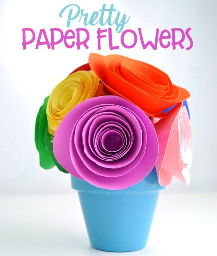 Make Your Own DIY Pretty Paper Flower