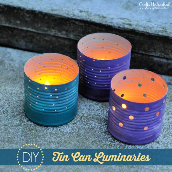 Make Your Own Recycled Luminaries