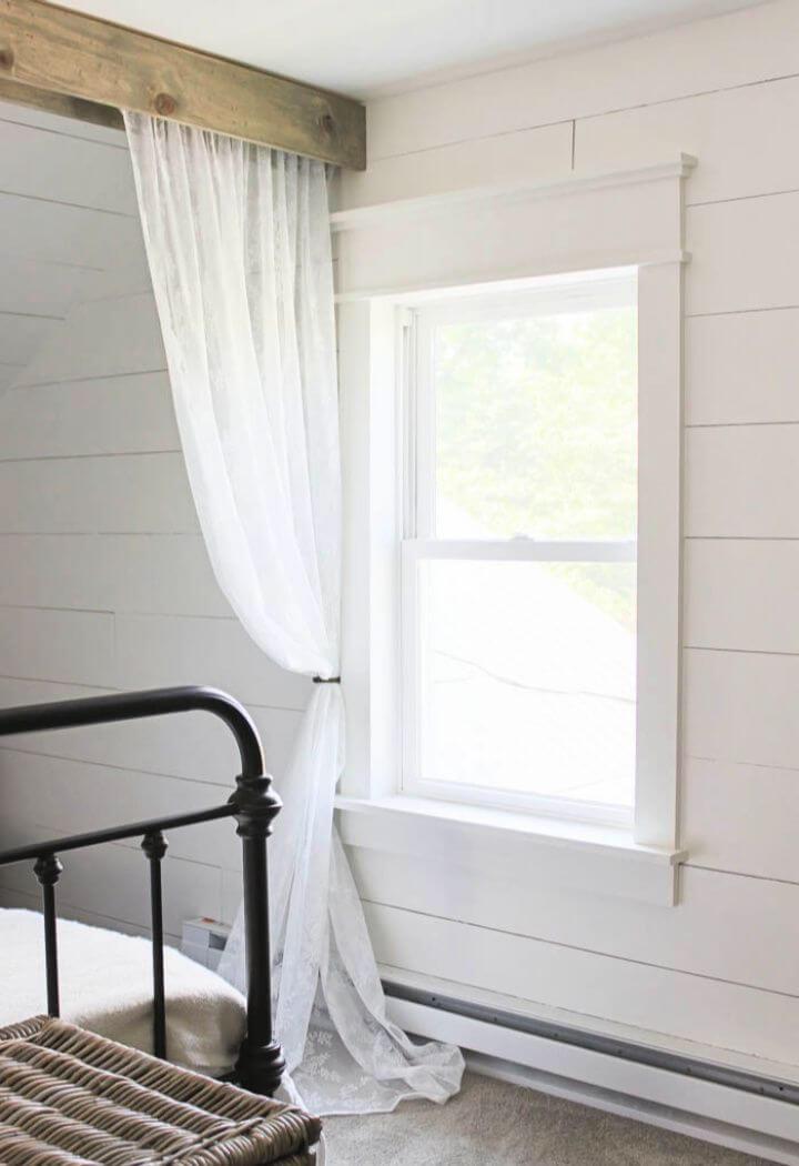 Makr Your Own DIY Farmhouse Window Trim