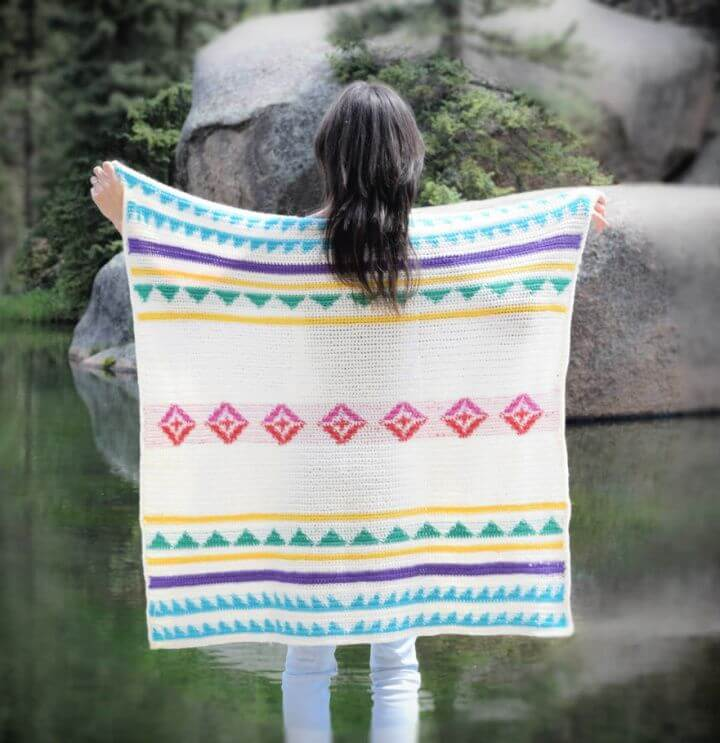 Modern Camp Crochet Blanket Pattern