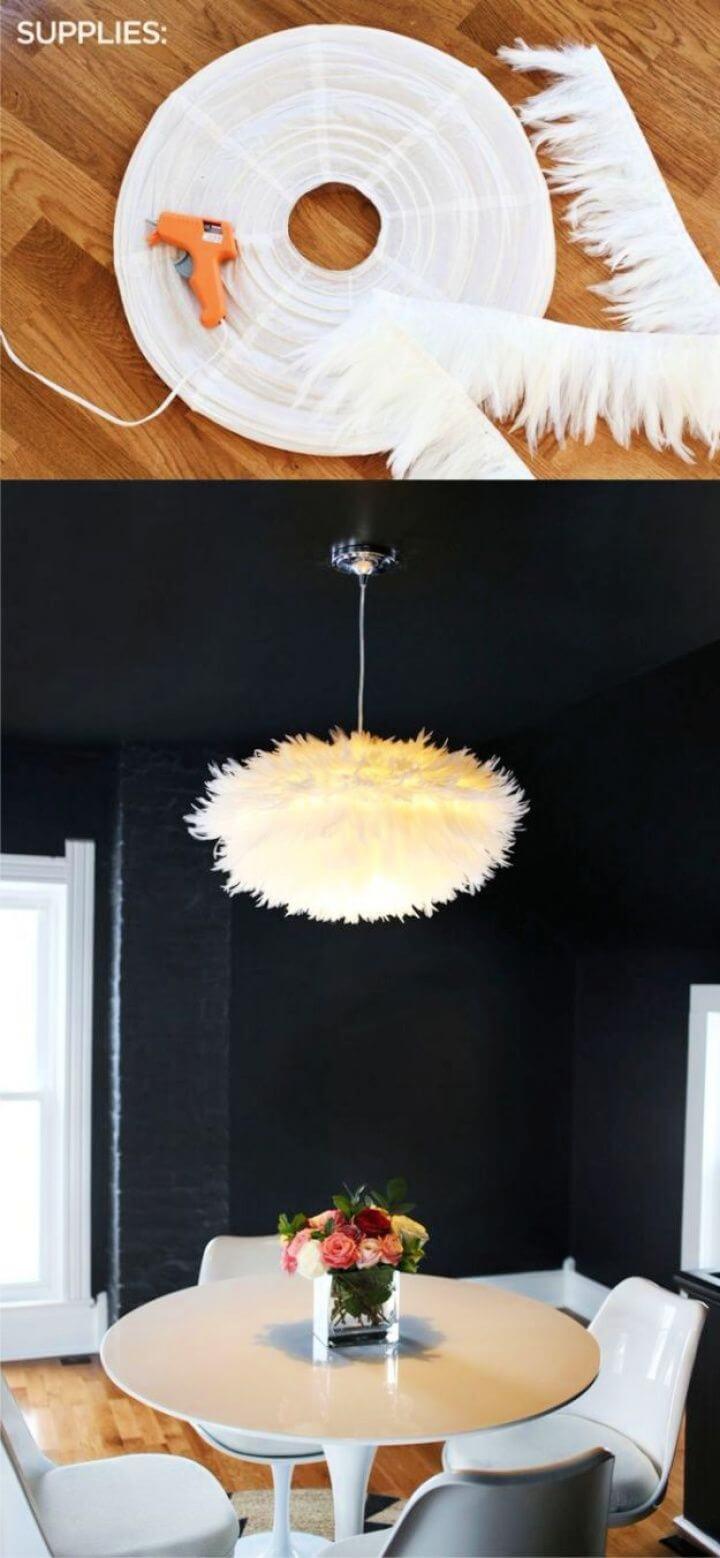 Modern DIY White Chandelier