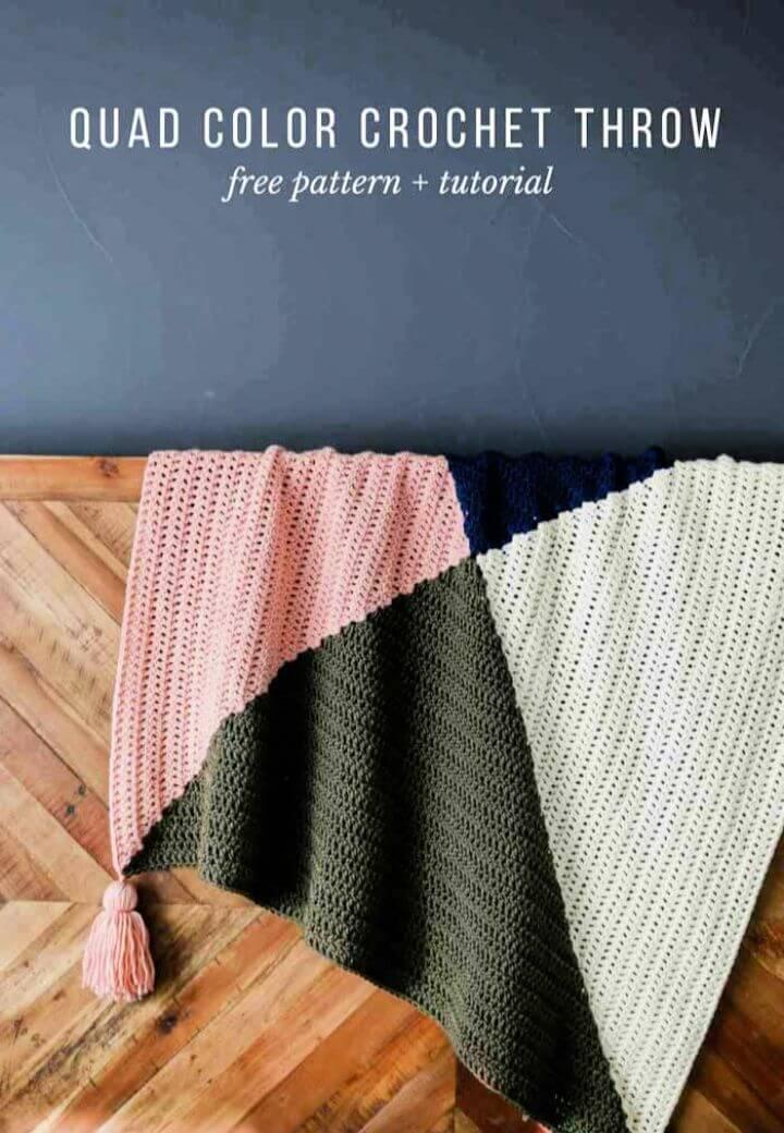 Modern Free Crochet Square Blanket Pattern