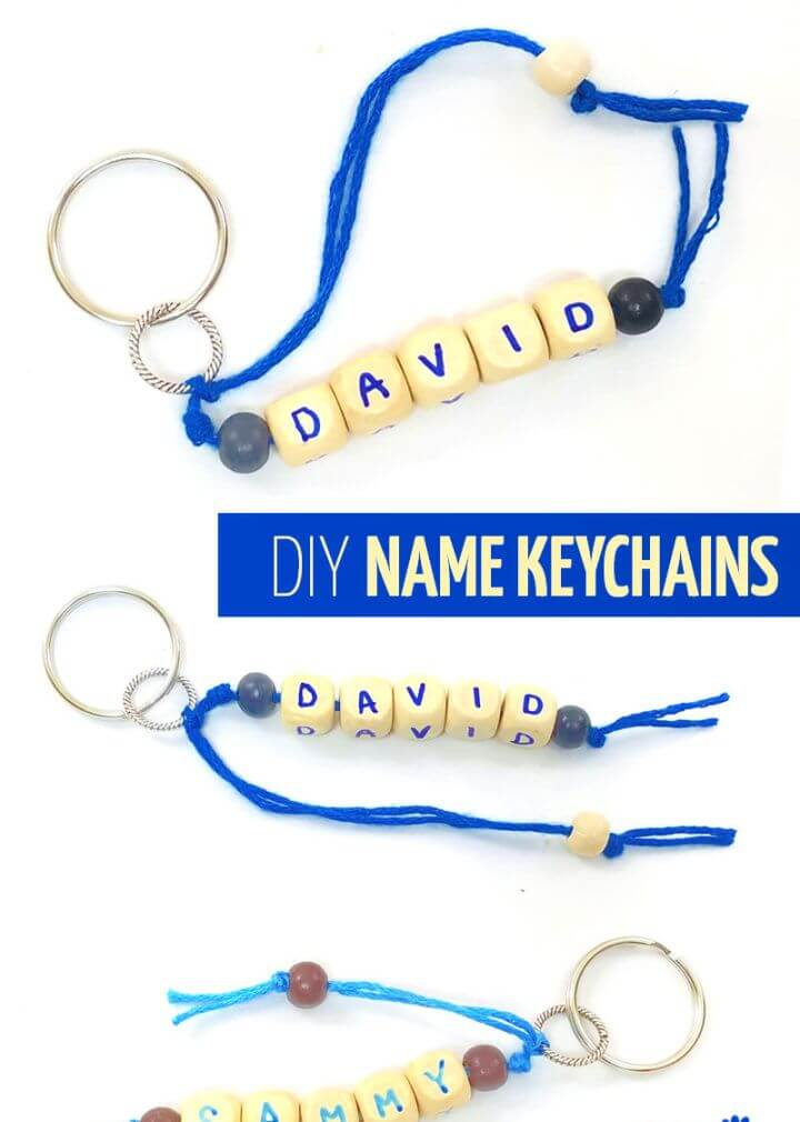Name Keychains – DIY Summer Craft Idea For Kids