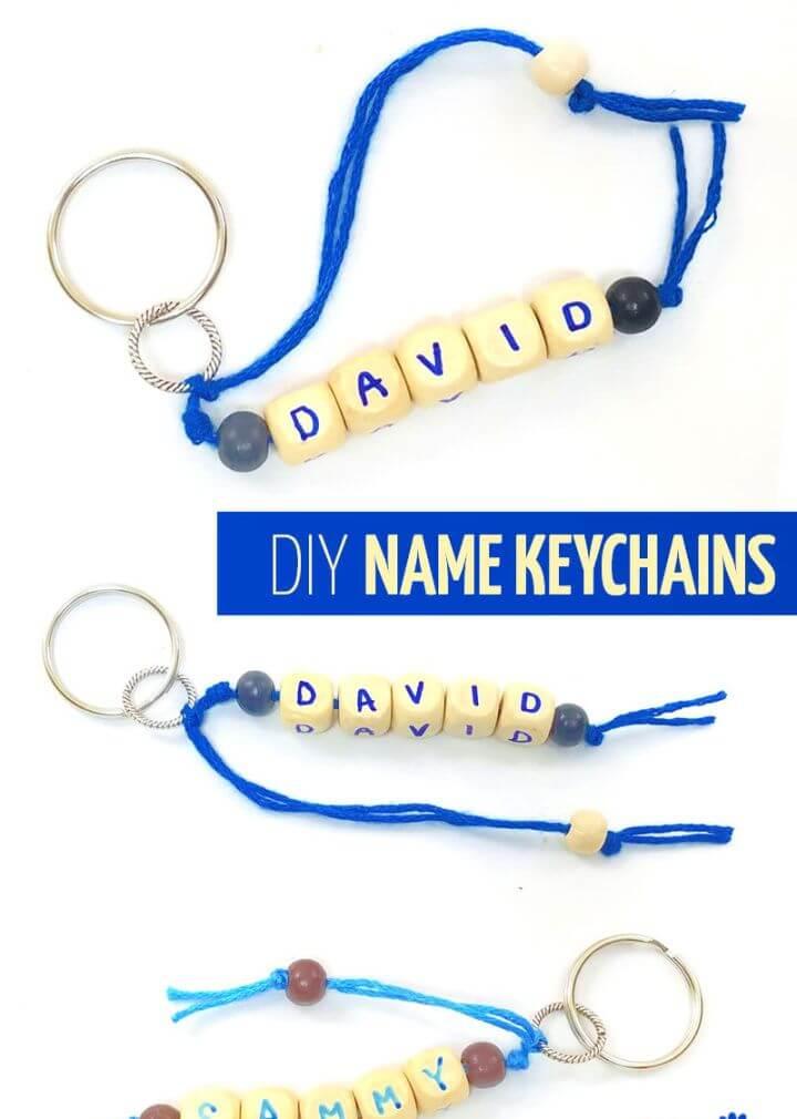 Name Keychains – DIY Summer Craft Idea For Kids