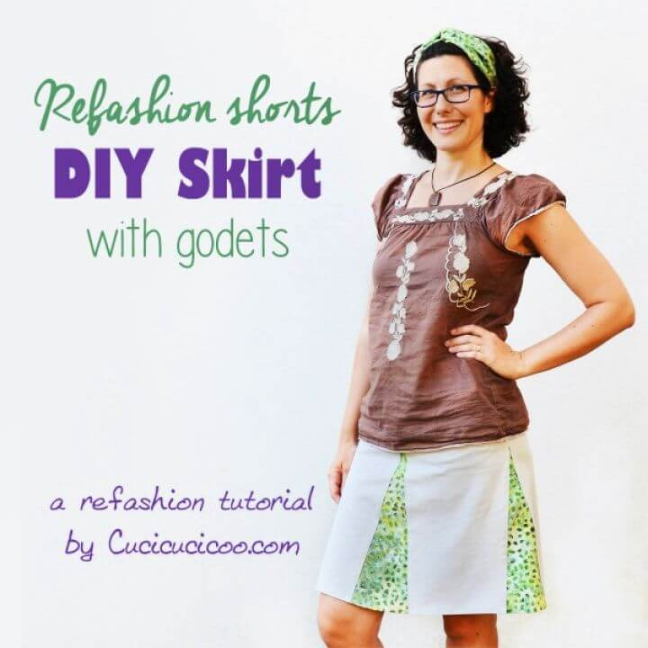 Refashion Shorts into a DIY Skirt with Godets
