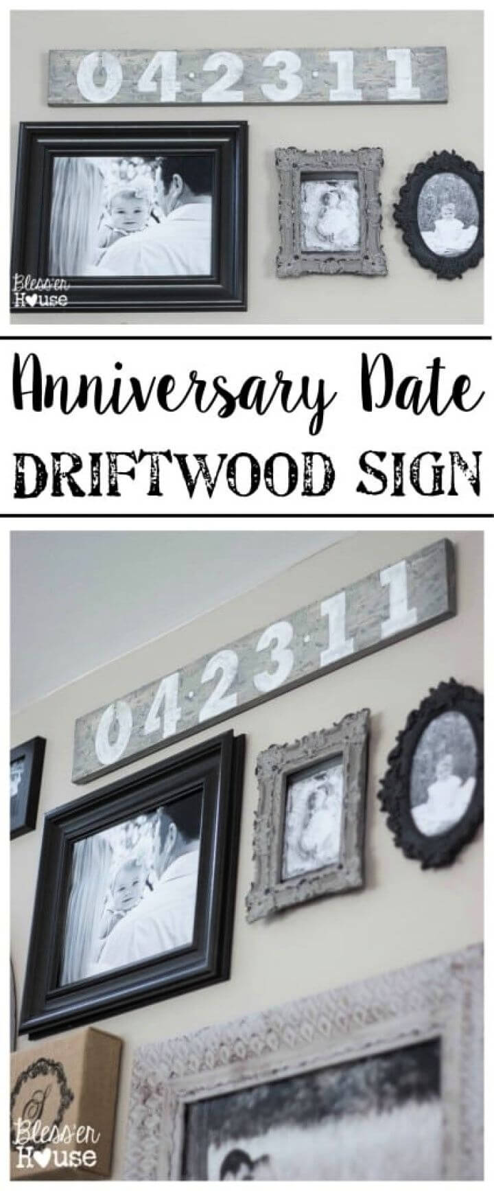 Simple DIY Anniversary Date Driftwood Sign