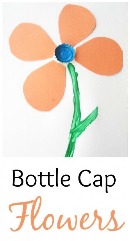 Simple DIY Bottle Cap Flowers