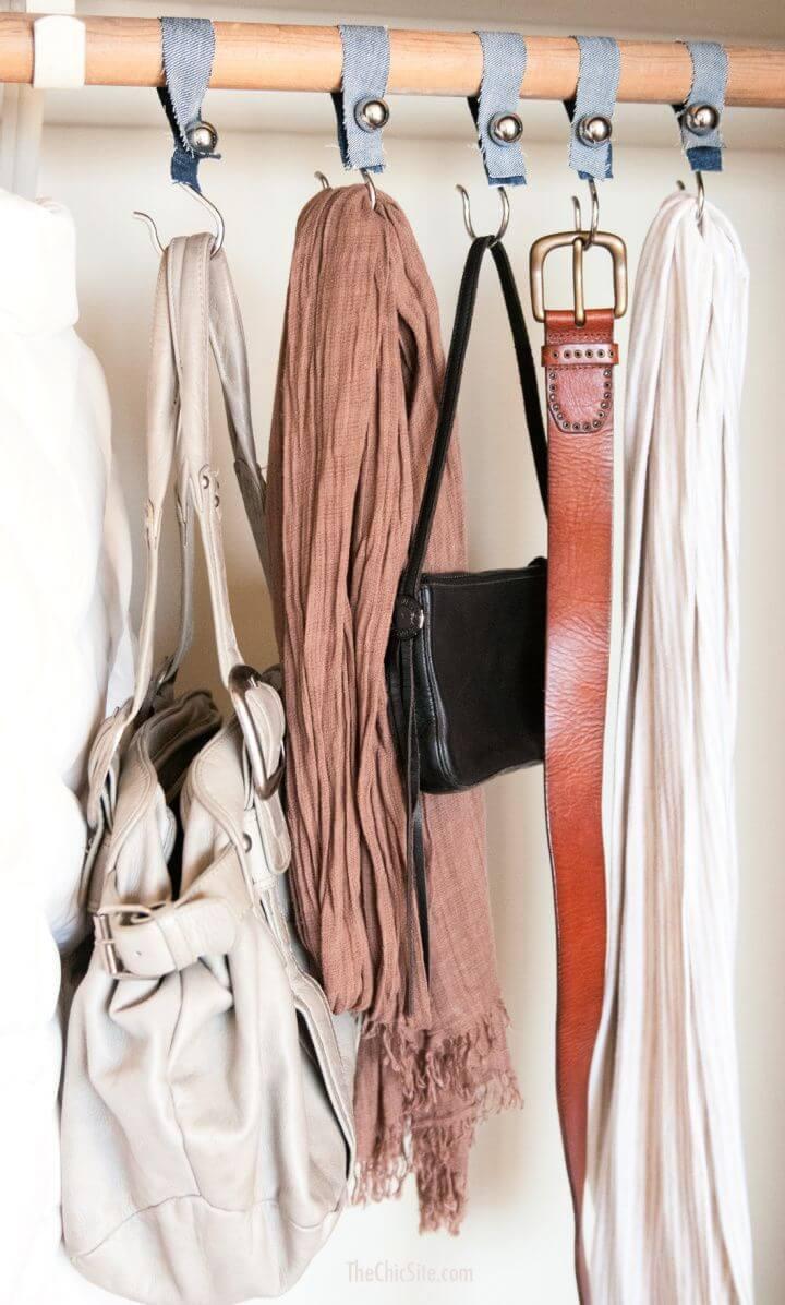 Simple DIY Closet Accessory Hanger