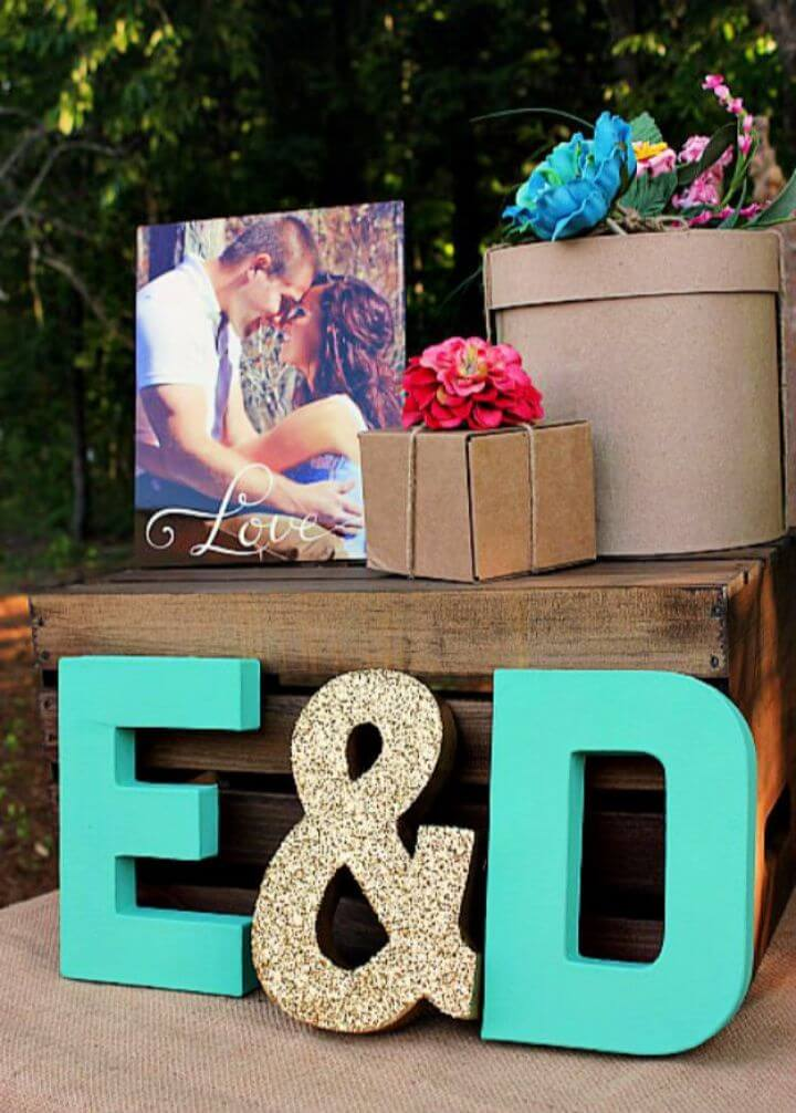 Simple DIY Custom Monogram Letter