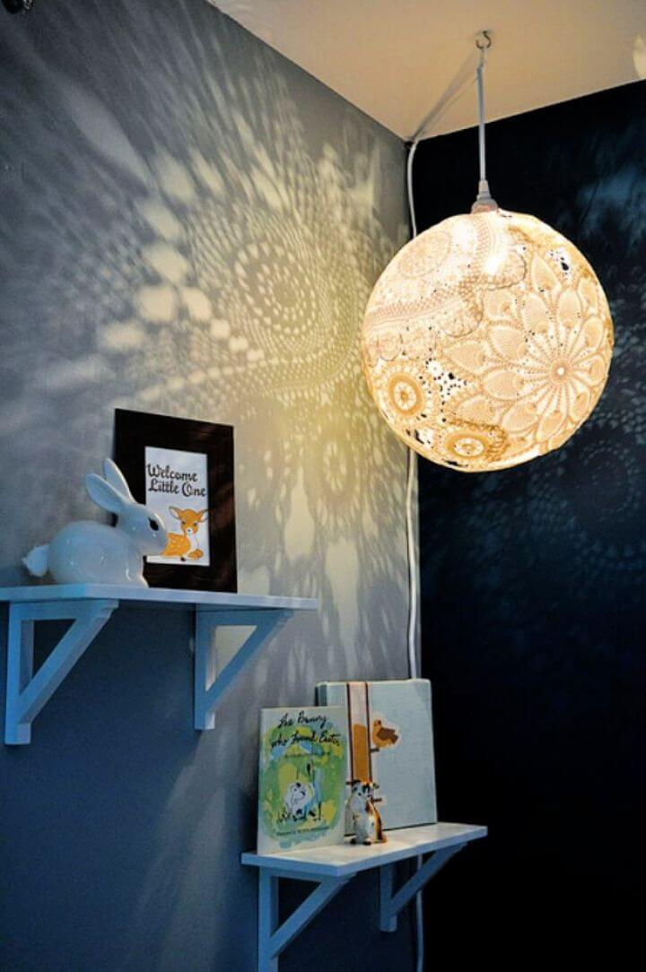 Simple DIY Doily Lamp Tutorial