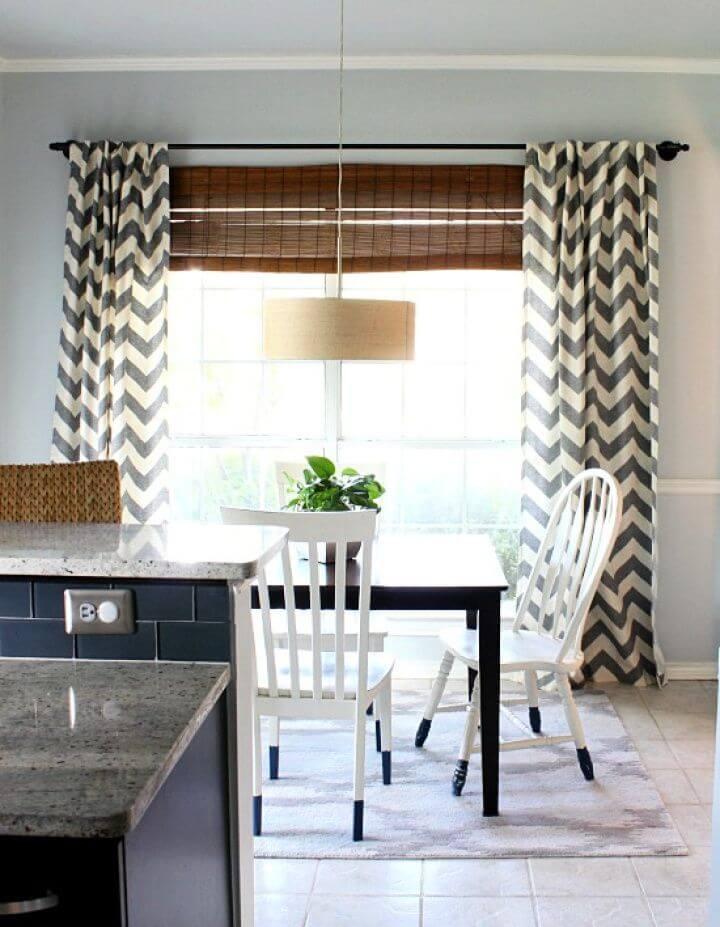 Simple DIY Galvanized Pipe Curtain Rod