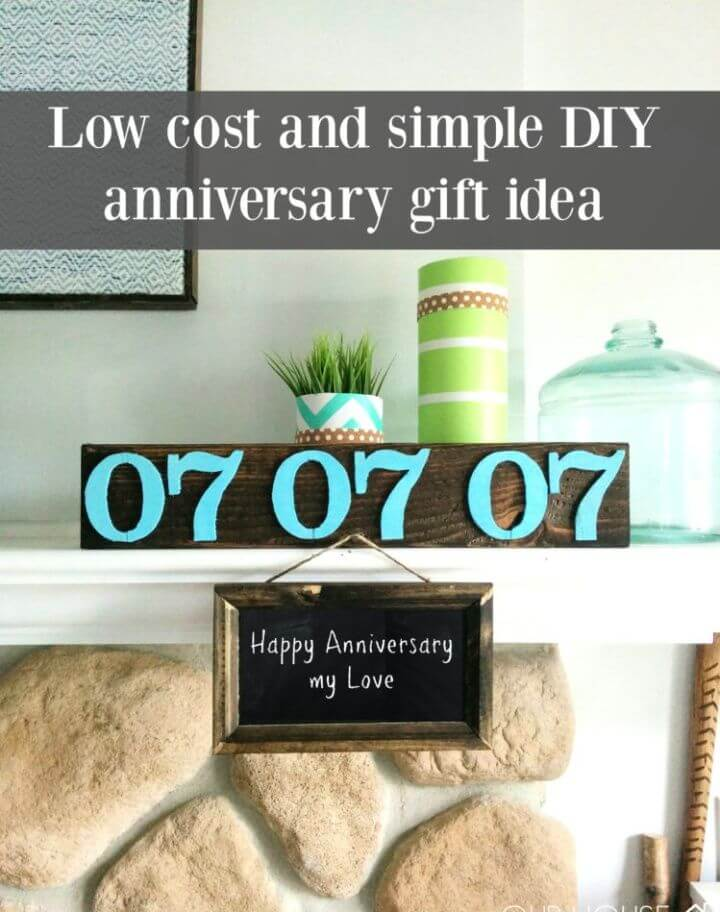 Simple DIY Low Cost Anniversary Gift Idea