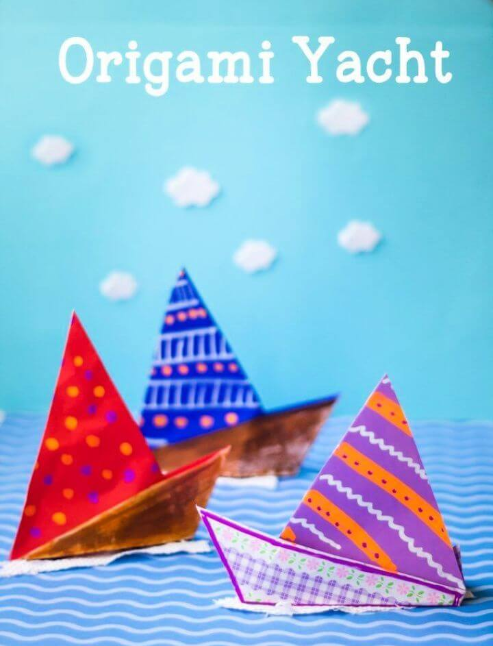 Simple DIY Origami Yacht Craft For Kids