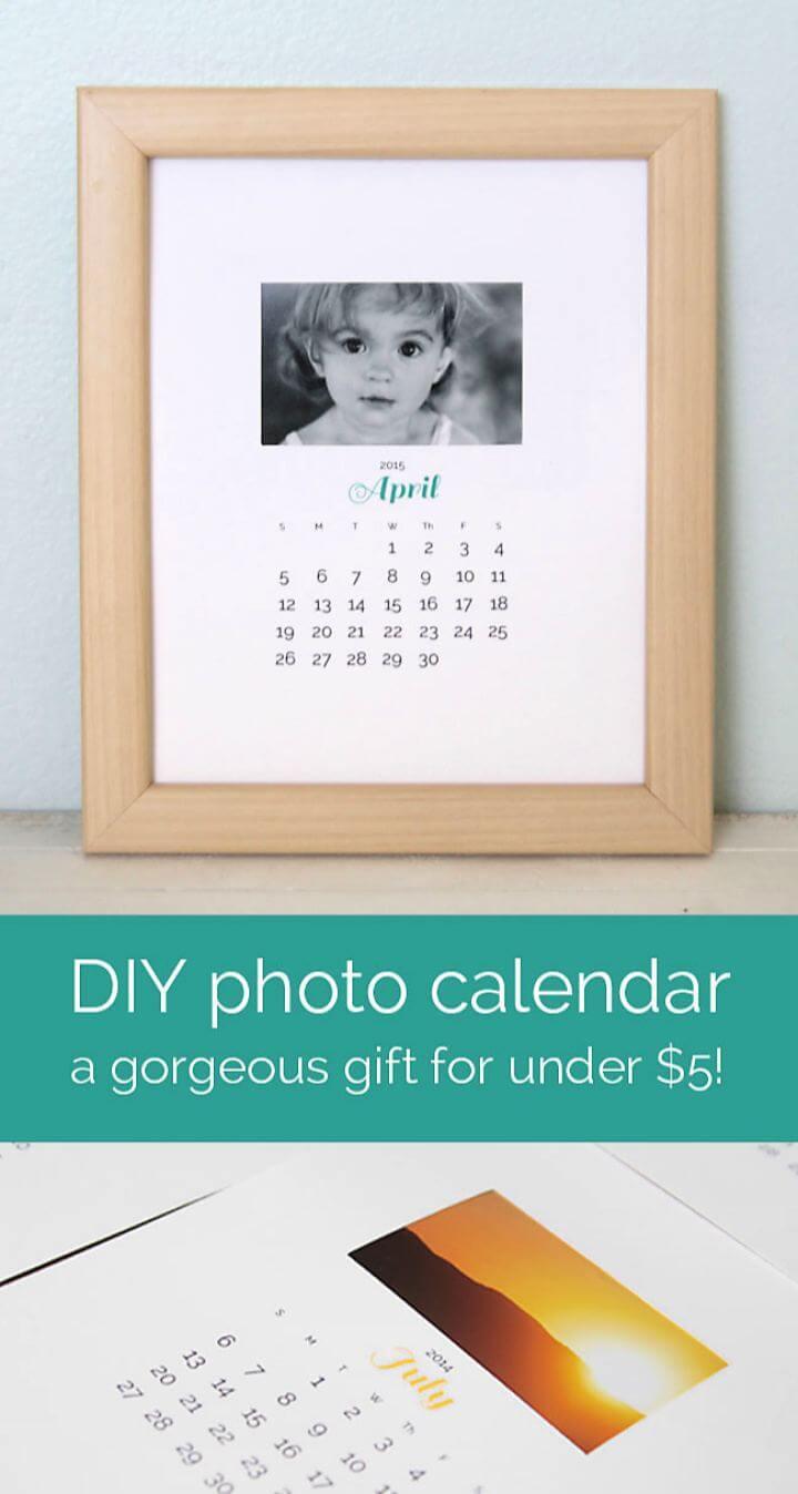 Simple DIY Photo Calendar Gift Idea