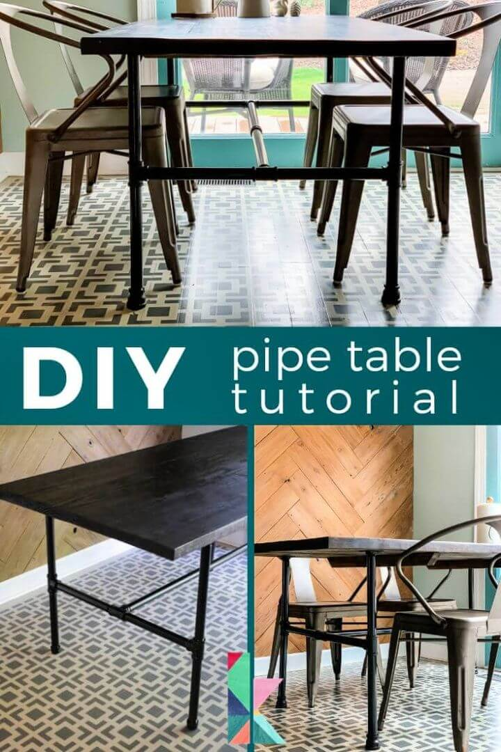 Simple DIY Pipe Table Tutorial