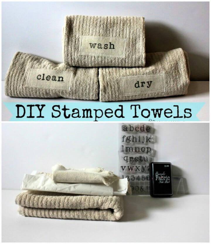 Simple DIY Stamped Hand Towels